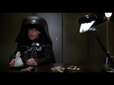 Spaceballs - Spaceballs scene, Helmet plays with his dolls again...