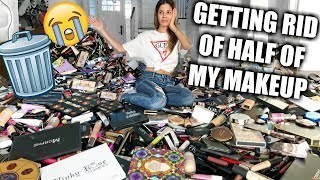 Video GETTING RID OF HALF OF MY MAKEUP COLLECTION | BIGGEST DECLUTTER EVER! MP3, 3GP, MP4, WEBM, AVI, FLV April 2019