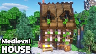 How to build an Awesome Medieval Village House in Minecraft 1.15 Survival Base