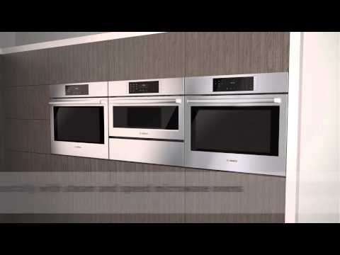introducing a newly designed and engineered bosch wall oven featuring a quietclose door