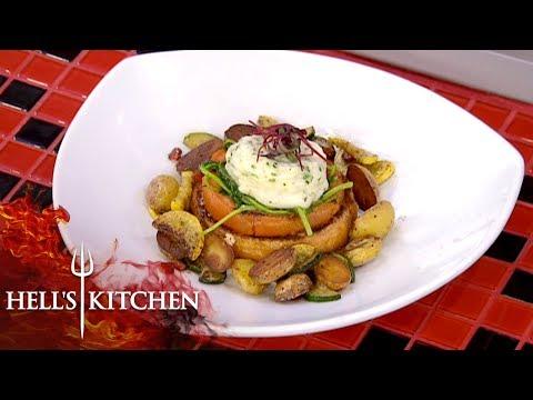 Gordon Is Amazed By Vegetarian Challenge   Hell's Kitchen