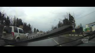 Китайский видеорегистратор G95A - съёмка 2K, день, пасмурно, дождь