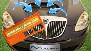 -Tra le piccole cose che si possono fare a casa e senza l'aiuto di un' officina specializzata, c'è sicuramente la sostituzione del filtro aria del motore.Nel caso della Lancia Musa 1.3 multijet (no DPF), la sostituzione va effettuata ogni 30.000 km (ogni 20.000 km per il 1.9 mtj e ogni 60.000 km per le versioni a benzina, ambedue hanno casse filtro differenti), è un' operazione semplice, ma molto importante per la resa del motore della nostra auto.il tempo necessario: circa 15 minutidifficoltà: semplice-iscriviti al canale Lancia Musa!https://www.youtube.com/channel/UCQaNMxlN5enw1DHIcQiLgcA-Iscriviti al gruppo Facebook!https://www.facebook.com/groups/1692929437698398/
