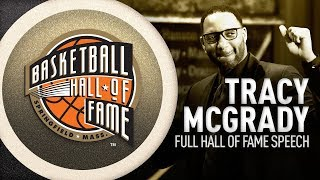 Tracy McGrady's Hall of Fame Enshrinement Speech | NBA