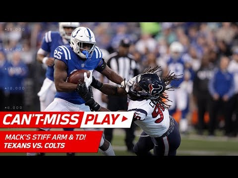 Video: Marlon Mack's Vicious Stiff Arm on Clowney & Powerful TD Run! | Can't-Miss Play | NFL Wk 17