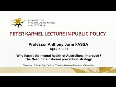View Peter Karmel Lecture 2014- Why hasn't the mental health of Australians improved? video