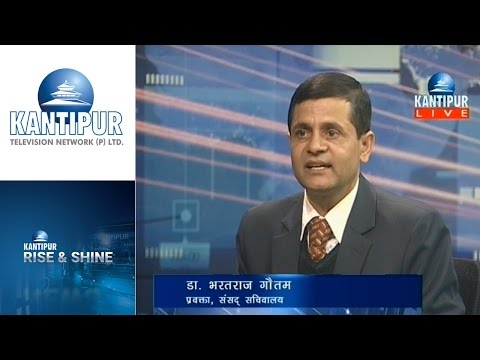 Dr. Bharat Raj Gautam interview in Rise & Shine on Kantipur Television