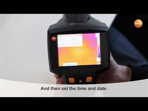 testo 875i - Step 03 - The First camera start-up