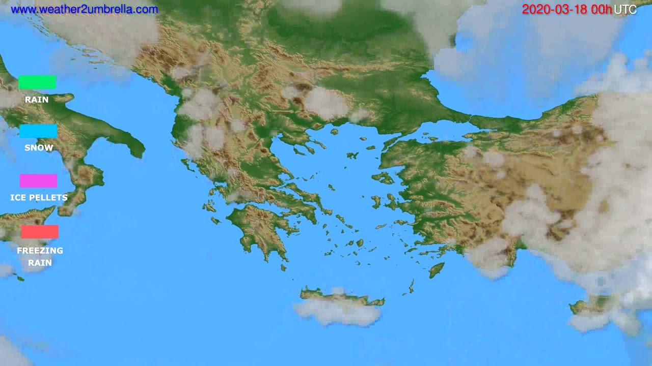 Precipitation forecast Greece // modelrun: 00h UTC 2020-03-17