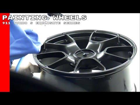Porsche 911 Turbo S Exclusive Series Painting Wheels