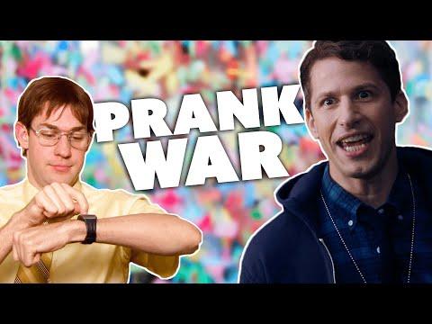 Jim Halpert VS Jake Peralta: PRANK WAR   The Office & Brooklyn Nine-Nine   Comedy Bites
