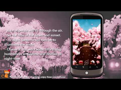 Video of Sakura's Bridge Live Wallpaper