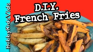 Make French Fries! FRENCH FRY Maker Machine Review HobbyKidsVids