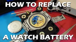"WARNING: Perform at own risk! How to video on replacing/changing the battery of a quartz watch using a basic watch repair kit.Like on Facebook: https://www.facebook.com/PerthWAtchYouTube/WARNING - Please note you do this AT YOUR OWN RISK - I would suggest only trying this on ""entry level"" watches which you can readily afford to replace.Featured watch models:TAG Heuer 3000 Professional (932.206, feat. ETA 555.112 movement) - https://www.calibre11.com/tag-heuer-3000-series/Ingersoll Lawrence GMT IN3218BK (Cal. 620) - http://www.ingersollwatches.com.au/collections/automatic/lawrence-cream/Battery: Renata 395 (SR927SW)===========Perth WAtch - Sharing my passion for horology and watches. Enjoy the videos on watch reviews, general thoughts & discussions, side-by-side comparisons, horology topics, and more!Watch Reviews Playlist: https://www.youtube.com/watch?v=h8DySE9bYGU&list=PL1qbhxREC4LQGhBi-ErvsxVz3Kc5P4FOxWatch Topics & Discussions: https://www.youtube.com/watch?v=u3IWov7lrrk&list=PL1qbhxREC4LT9JMopfMG2-wu6rFhsJCIuSubscribe: https://www.youtube.com/channel/UCjBOEG8LoZOV0qOO7TdlHlA?sub_confirmation=1===========Music:""Shiny Tech"" Kevin MacLeod (incompetech.com)Licensed under Creative Commons: By Attribution 3.0 Licensehttp://creativecommons.org/licenses/by/3.0/"