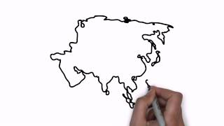 How To Draw Map Of Asia  VidInfo