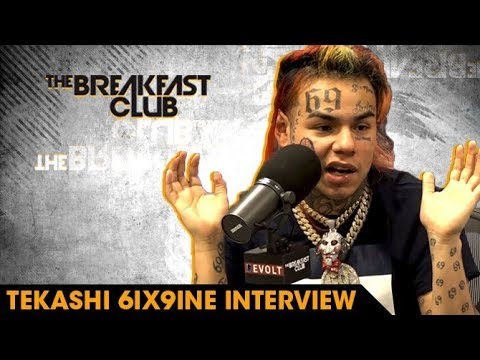 6ix9ine Explains Why He Loves Being Hated, Rolling With Crips And Bloods & Why He's The Hottest (видео)