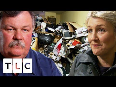 Hoarder Sleeps On Floor Among Piles Of Trash   Hoarding: Buried Alive