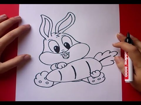 Como dibujar a Bugs Bunny paso a paso 2 - Looney Tunes | How to draw Bugs Bunny 2 - Looney Tunes
