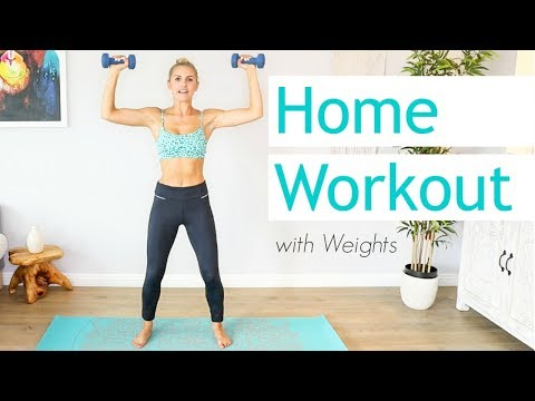 Full Body 15 Minute Workout With Weights | Rebecca Louise