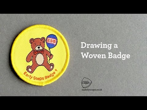 How to draw a Woven Cloth Badge