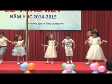 [VIET ANH SCHOOL] - LỄ TỔNG KẾT NĂM HỌC 2014 - 2015 - Tiết mục văn nghệ các bé mầm non