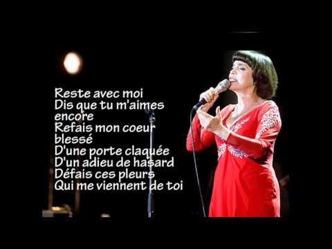 Tekst piosenki Mireille Mathieu - Reste avec moi po polsku