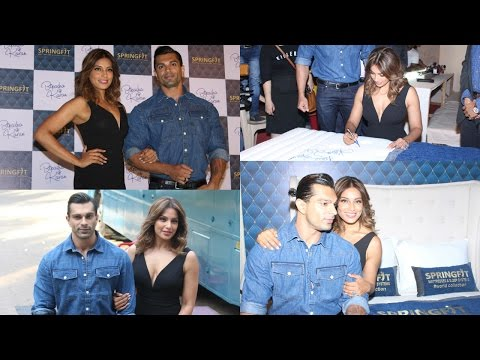 UNCUT: Bipasha Basu & Karan Singh Grover At Launch Of Springfit Mattresses Autograph Collection