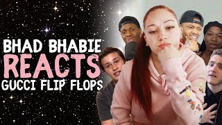 "Video BHAD BHABIE reacts to ""Gucci Flip Flops"" ft. Lil Yachty roasts and reaction vids 