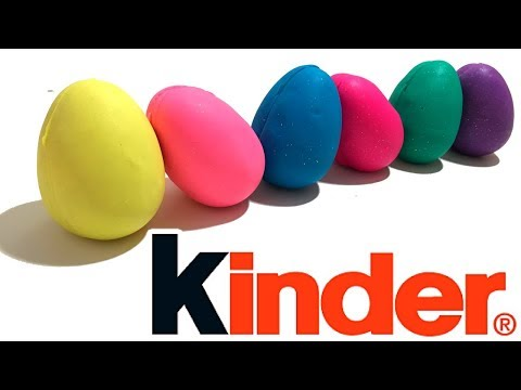 DIY How To Do Play Doh Modelling Clay Kinder Surprise Egg Rainbow Learning Colors
