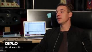 DIPLO producing, recording and mixing with Apogee Quartet