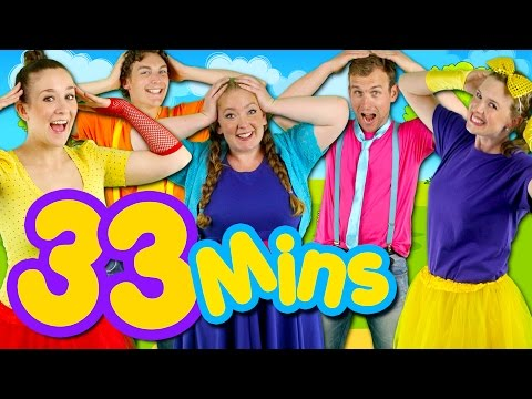 Head Shoulders Knees and Toes and MORE! Kids Nursery Rhymes Collection   33 Minutes Compilation