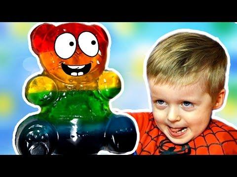 Разноцветный Желейный Медведь DIУ Видео для Детей ЖЕЛЕЙНЫЙ Медведь ВАЛЕРА  Liоn bоу - DomaVideo.Ru