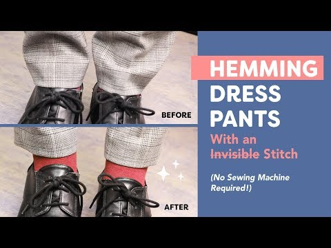 [WonderFil] Hemming Dress Pants With an Invisible Stitch ㅣNo Sewing Machine Required!