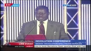 Rt Hon Raila Odinga's Full Speech During 2016 Devolution Conference