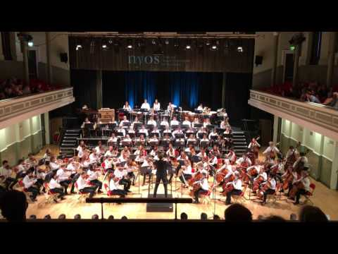 NYOS Senior Orchestra performing part of 'Mardi Gras' from Ferde Grofe's Mississippi Suite
