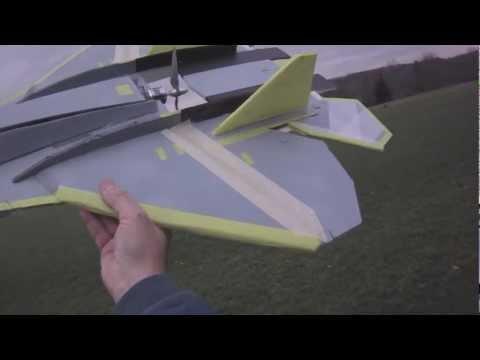 Sukhoi T50 Pak Fa Test RCPowers v1-LERX & No KF (видео)