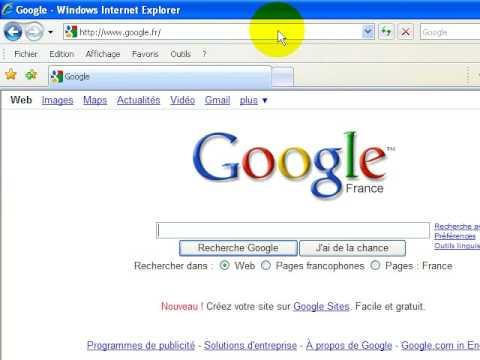 comment prendre google comme page d'accueil