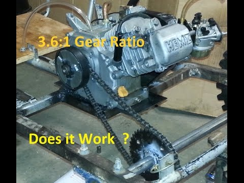 3.6:1 Gear Ratio. Will it even move? [GoKart]