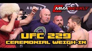 Video UFC 229: Khabib vs Conor McGregor Weigh-In  (FULL) MP3, 3GP, MP4, WEBM, AVI, FLV Oktober 2018