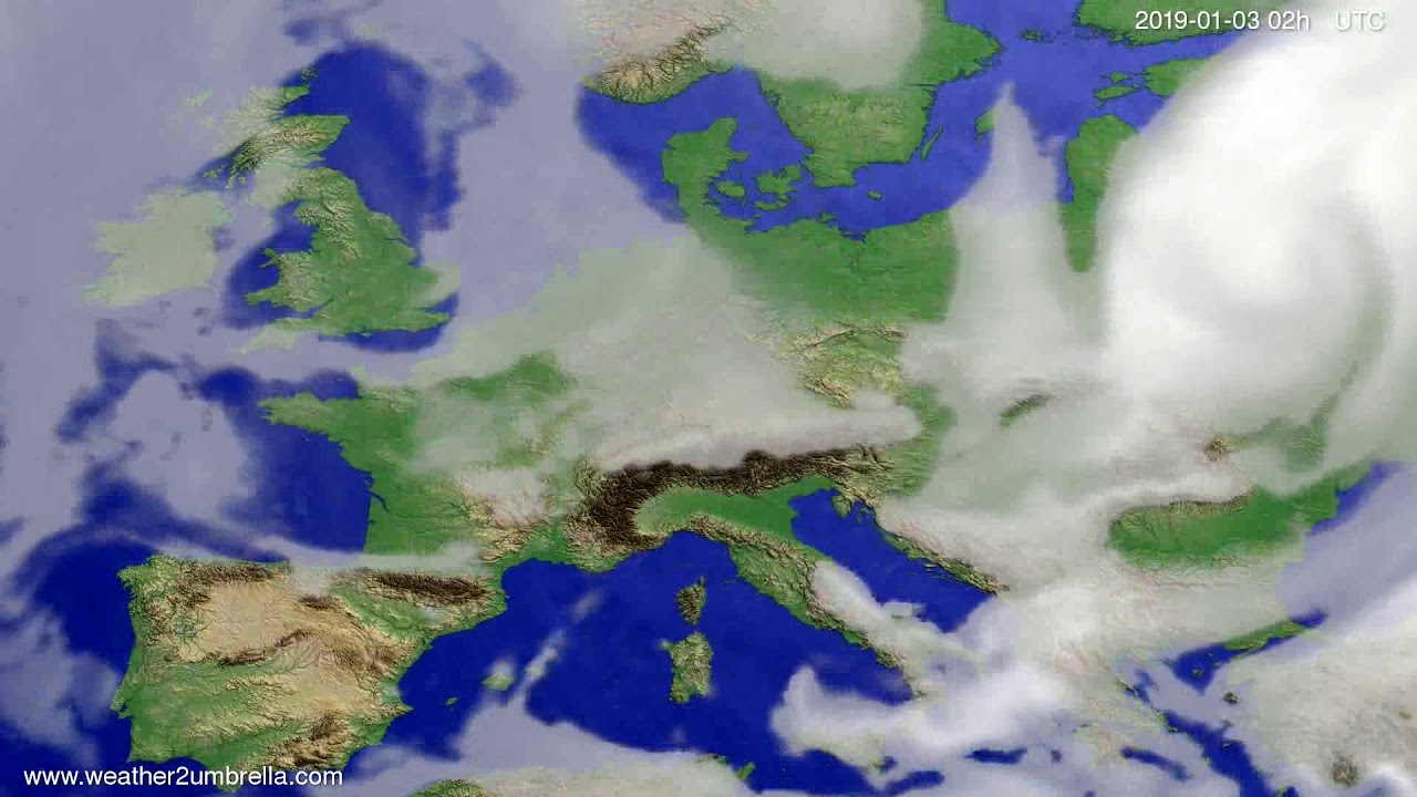 Cloud forecast Europe 2018-12-30