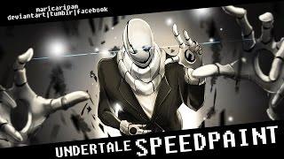 W.D. Gaster - Undertale - Speedpaint