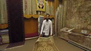 How to Buy a Persian or Kashmiri hand knotted Carpet - filmed and presented in  4k