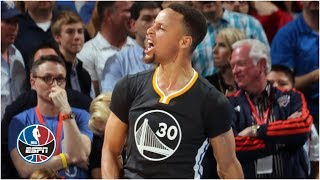 Steph Curry hits half-court buzzer beater to beat Kevin Durant, Thunder   ESPN Archives