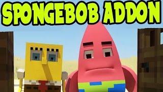 MCPE SPONGEBOB ADDON! Bikini Bottom ADDON and BEHAVIOR PACK! SpongeBob Minecraft PE (Pocket Edition)