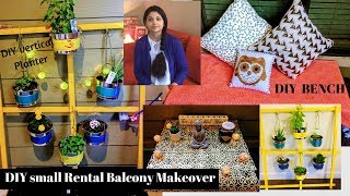 DIY BALCONY MAKEOVER l Balcony Organization  & Decor Ideas l DIY BENCH & Planter l Reallife Realhome