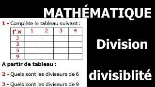 Maths 6ème - Division et divisibilité Exercice 3