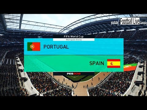 PES 2018 | PORTUGAL Vs SPAIN | FIFA World Cup | Gameplay PC