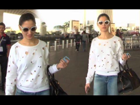 Hot Tamanna Bhatia Spotted At Airport