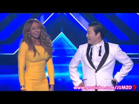 Mel B Does The Gangnam Style Dance With PSY – The X Factor Australia 2012