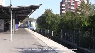 Farsta Sweden  City new picture : SL Tunnelbana tåg / Metro trains at Farsta station, Stockholm, Sweden
